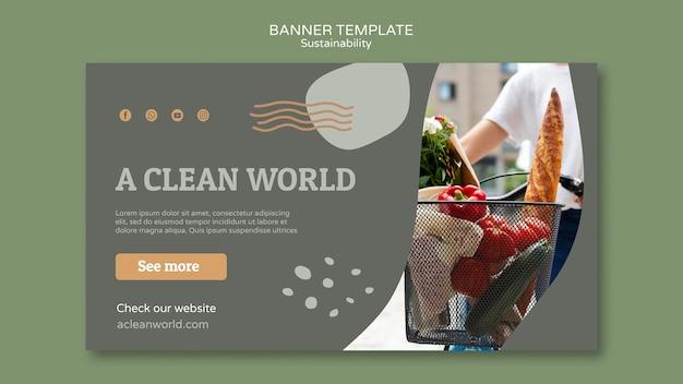 Modello di progettazione banner di sostenibilità