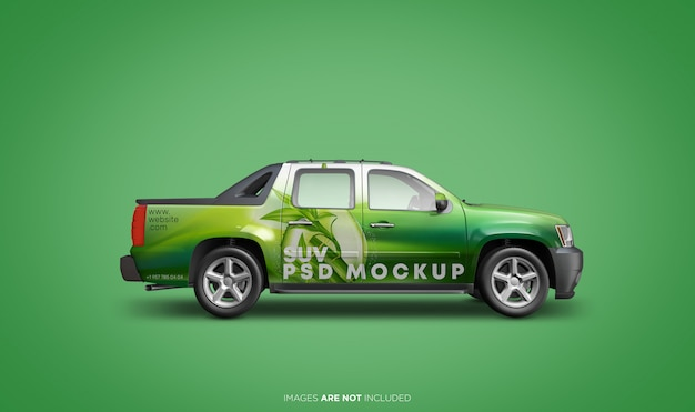 Suv vehicle psd mockup side view