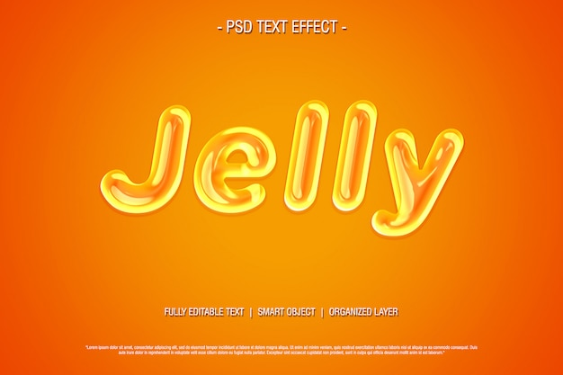 Sweat jelly psd text effect