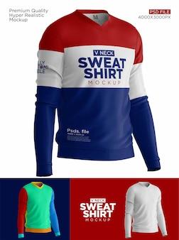 スウェットシャツの背面図のモックアップ