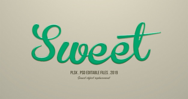 Sweet 3d text style effect