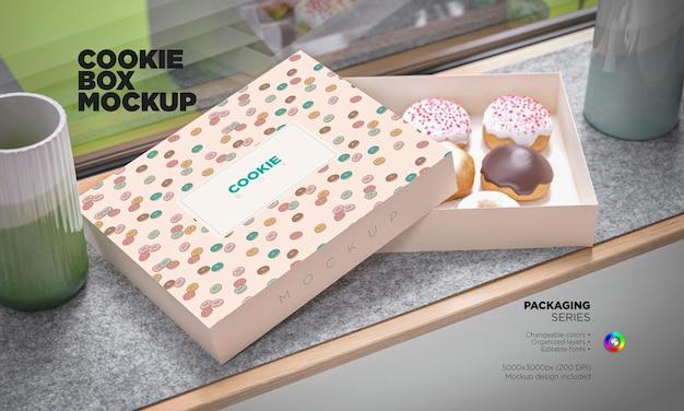 Мокап сладкой коробки