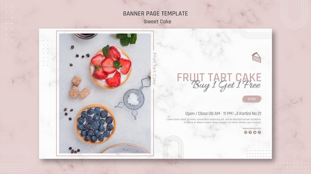 Sweet cake shop banner template