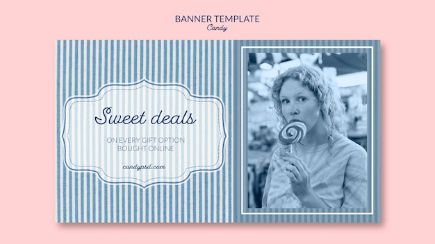 Sweet deals candy shop banner template