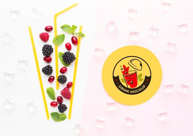 Макет концепции сока сладких напитков