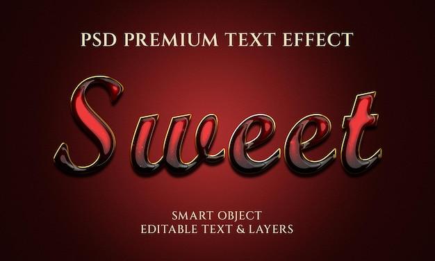 Сладкий текстовый эффект дизайн