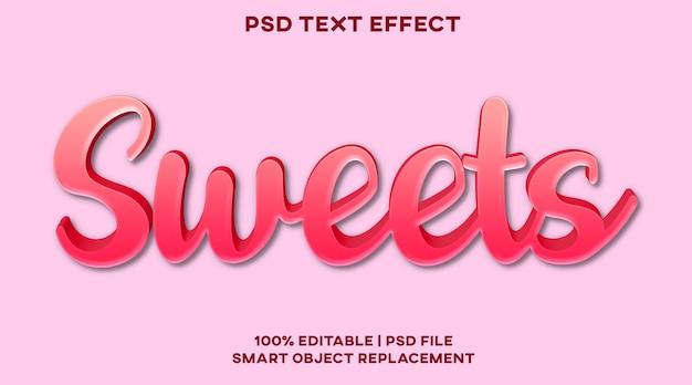 Шаблон стиля текстового эффекта сладостей