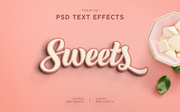 Текстовый эффект sweets