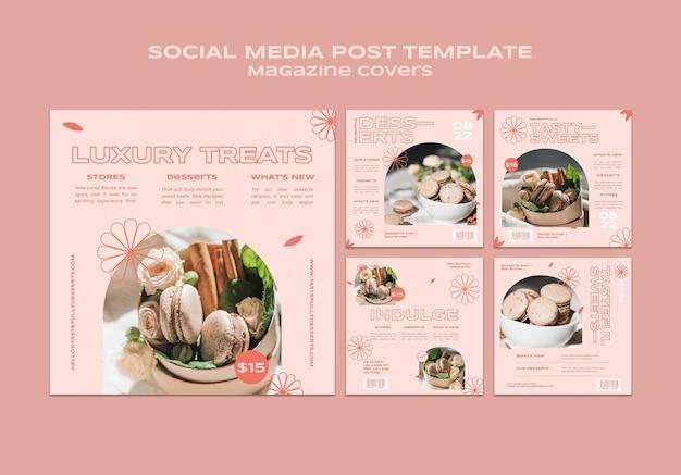 Sweets and treats social media posts