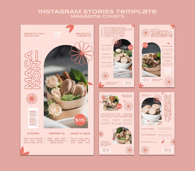 Sweets and treats social media stories