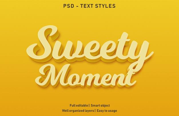 Текстовый эффект сладкий момент