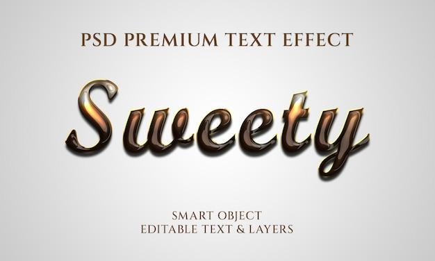 Дизайн с эффектом сладкого текста