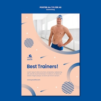 Swimming best trainers poster template