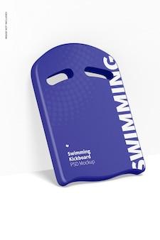 Swimming kickboard mockup, leaned