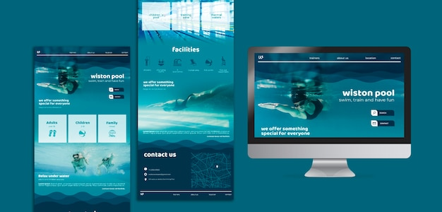 Swimming lessons web templates