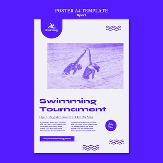 Swimming tournament poster template