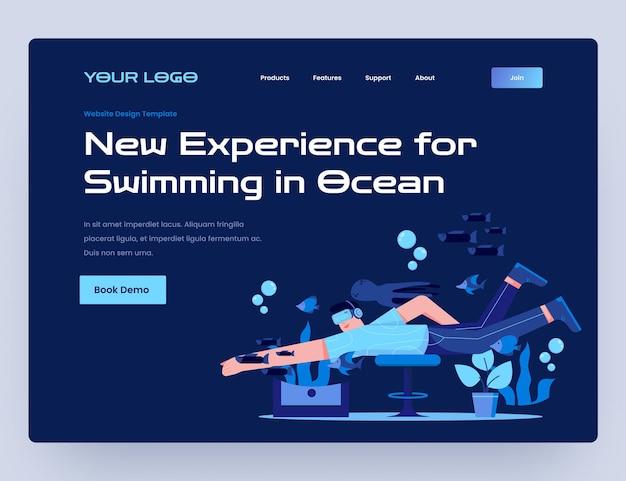 Плавание с виртуальной реальностью website templte