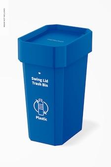 스윙 뚜껑 쓰레기통 모형