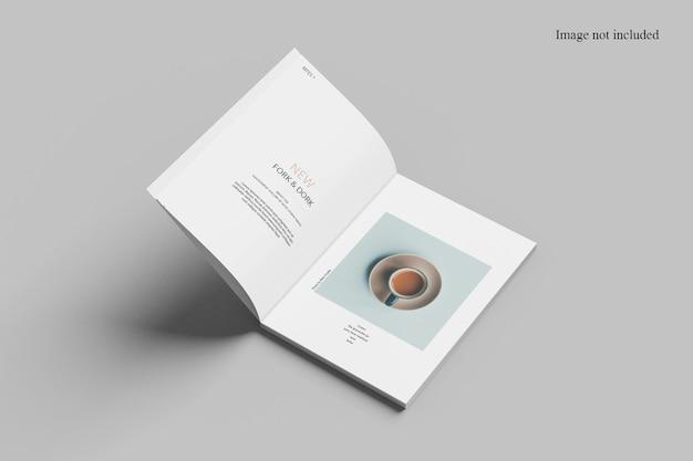 슬쩍 페이지 잡지 모형 디자인 절연