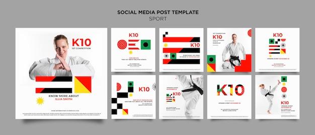 Шаблон сообщения в социальных сетях со швейцарским дизайном