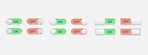 Switches and toggles psd material