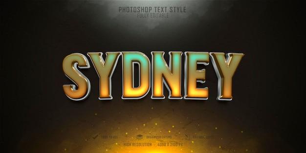 Sydney 3d text style effect template design