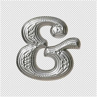 銀球からのシンボル3dレンダリング