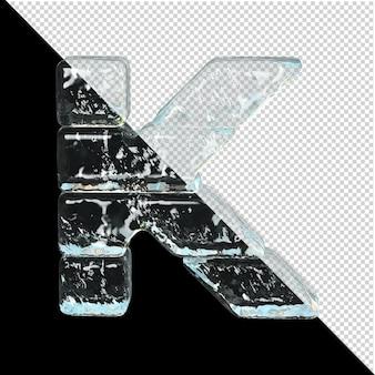 얼음 컬렉션의 상징입니다. 3d 편지 k