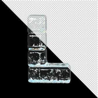 얼음 컬렉션의 상징입니다. 3d 편지 l