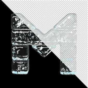 얼음 컬렉션의 상징입니다. 3d 편지 m
