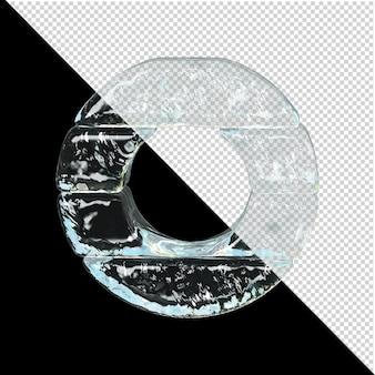 얼음 컬렉션의 상징입니다. 3d 편지 o