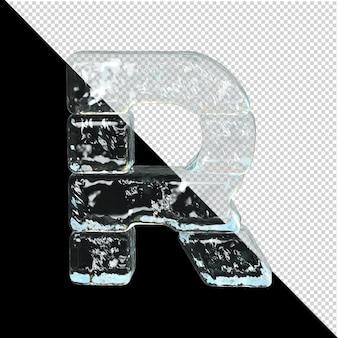 얼음 컬렉션의 상징입니다. 3d 편지 r