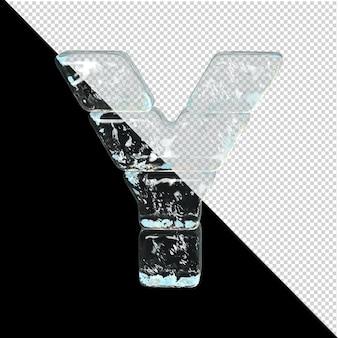 얼음 컬렉션의 상징입니다. 3d 편지 y