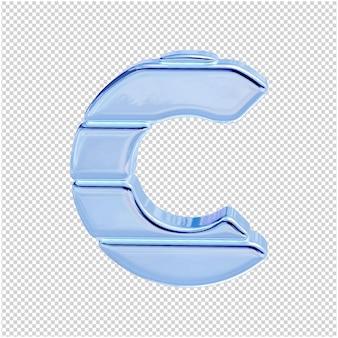 Символ из ледяной коллекции. 3d буква c