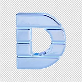 Символ из ледяной коллекции. 3d буква d