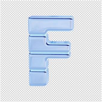 Символ из ледяной коллекции. 3d буква f