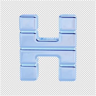 Символ из ледяной коллекции. 3d буква h