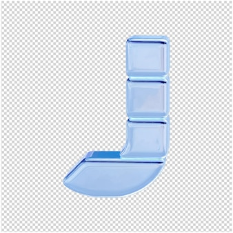 Символ из ледяной коллекции. 3d буква j