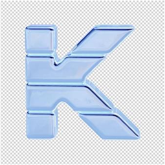 Символ из ледяной коллекции. 3d буква k