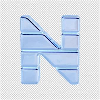 Символ из ледяной коллекции. 3d буква n