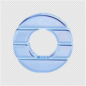 Символ из ледяной коллекции. 3d буква o