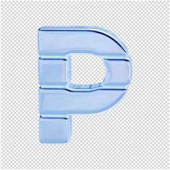 Символ из ледяной коллекции. 3d буква p