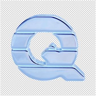 Символ из ледяной коллекции. 3d буква q
