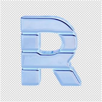 Символ из ледяной коллекции. 3d буква r