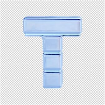 Символ из ледяной коллекции. 3d буква t