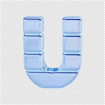 Символ из ледяной коллекции. 3d буква u