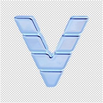 Символ из ледяной коллекции. 3d буква v