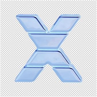 Символ из ледяной коллекции. 3d буква x