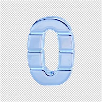 Символ из ледяной коллекции. 3d номер 0