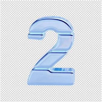 Символ из ледяной коллекции. 3d номер 2